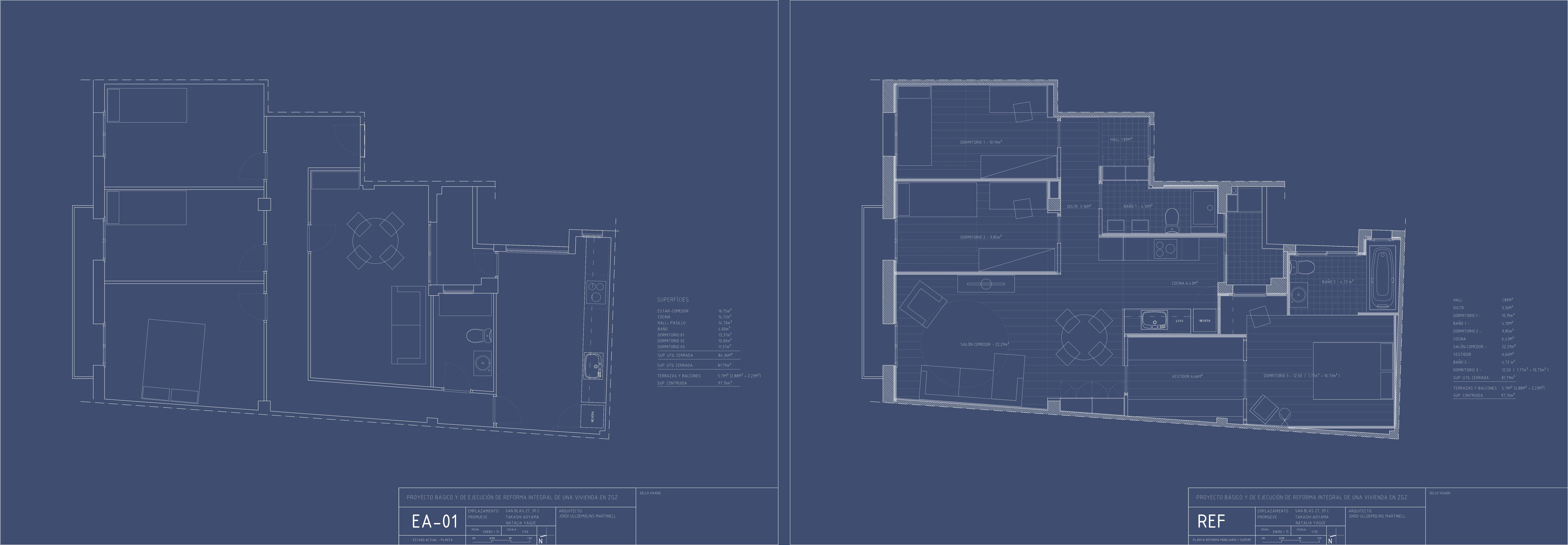 Reforma integral de una vivienda en c san blas zaragoza for Cuanto cuesta una reforma integral de una casa