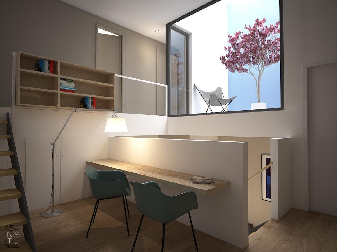 estudio del Proyecto de vivienda unifamiliar en Zaragoza realizado por el estudio de arquitectura diseño e interiorismo A54insitu ubicado en Las Armas Zaragoza