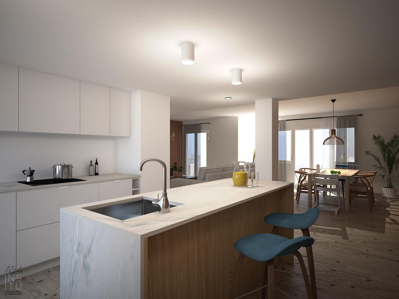 Reforma integral de una vivienda en el edificio kasan for Estudios arquitectura zaragoza