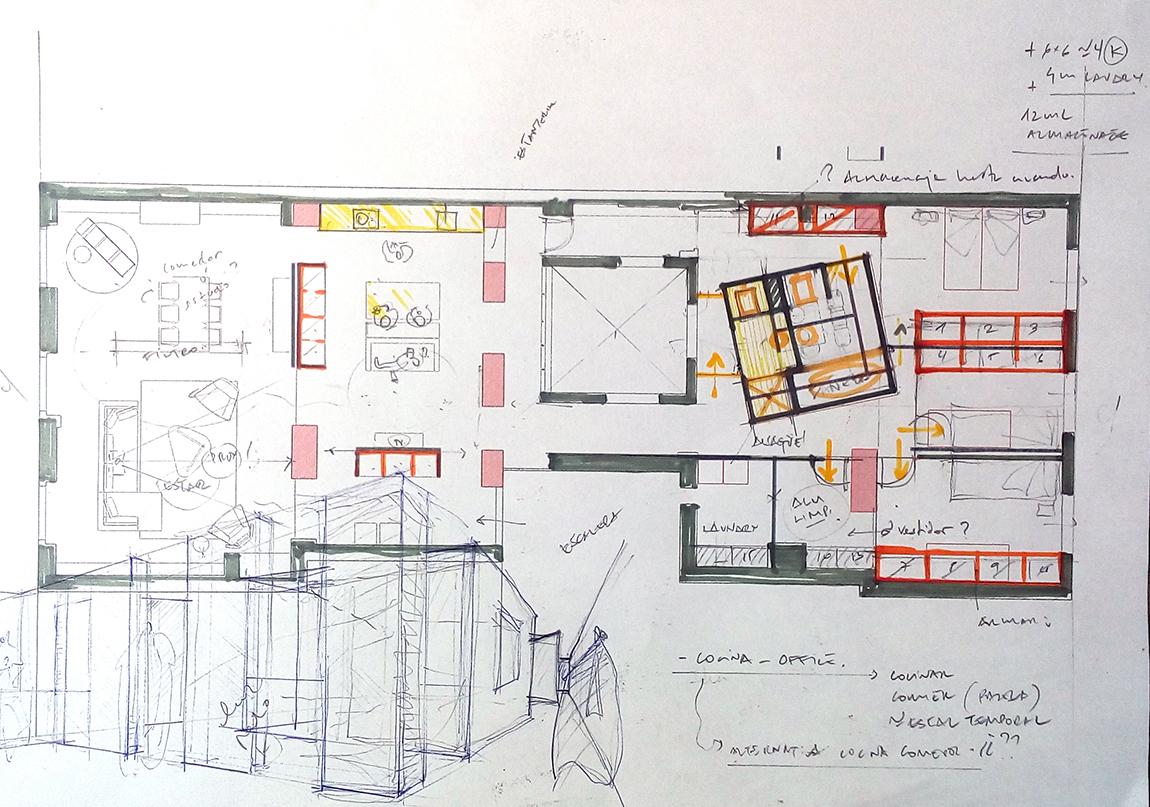 Reforma integral de una vivienda en c alfonso i zaragoza for Estudios arquitectura zaragoza
