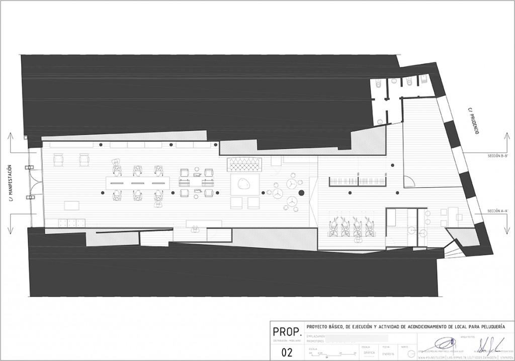 Oliver y goretti peluquer a en zona c alfonso zaragoza for Estudios arquitectura zaragoza