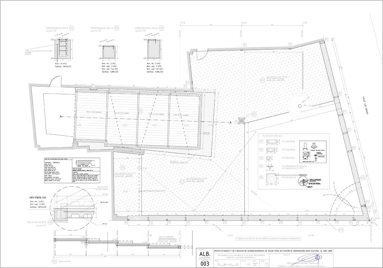 proyecto de acondicionamiento urbano de un solar en la calle Armas de Zaragoza realizado por el estudio de arquitectura diseño e interiorismo A54insitu ubicado en Las Armas Zaragoza