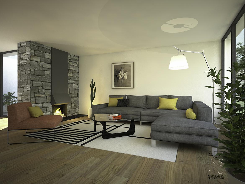 proyecto de reforma interior de una vivienda en la Urbanización Torres de San Lamberto de Zaragoza realizado por el estudio de arquitectura diseño e interiorismo A54insitu ubicado en Las Armas Zaragoza