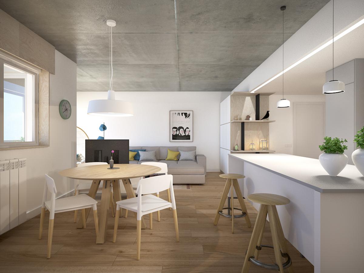 Reforma integral de una vivienda en c atares zaragoza for Estudios arquitectura zaragoza