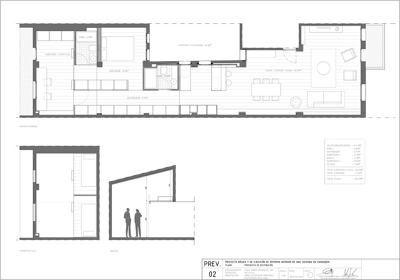 proyecto de reforma interior de una vivienda en centro de Zaragoza realizado por el estudio de arquitectura diseño e interiorismo A54insitu ubicado en Las Armas Zaragoza