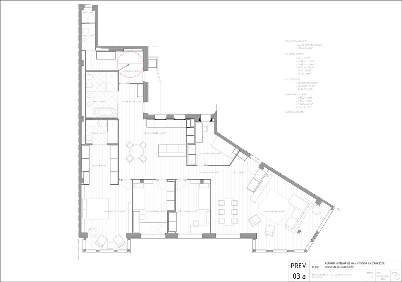 proyecto de interiorismo de una vivienda en el centro de Zaragoza realizado por el estudio de arquitectura diseño e interiorismo A54insitu ubicado en Las Armas Zaragoza