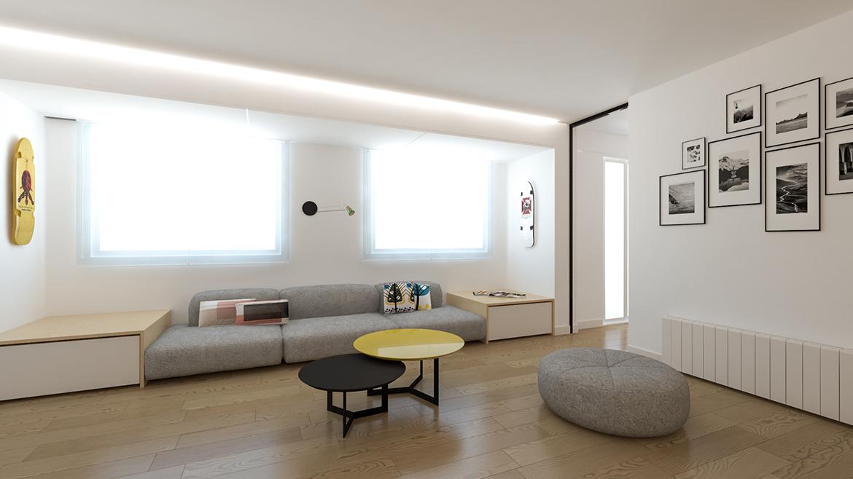 proyecto de reforma interior de una vivienda en Barrio de San José Zaragoza realizado por el estudio de arquitectura diseño e interiorismo A54insitu ubicado en Las Armas Zaragoza
