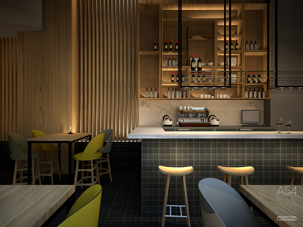 Bar restaurante en el centro de zaragoza a54insitu - Estudio arquitectura zaragoza ...