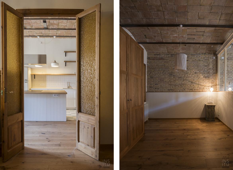 reforma de interiores de una vivienda en el Eixample de Barcelona por A54insitu