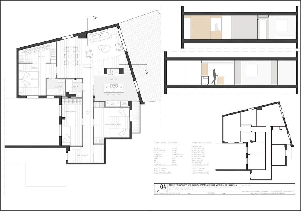 Reforma integral vivienda zona puerta del carmen for Estudios arquitectura zaragoza