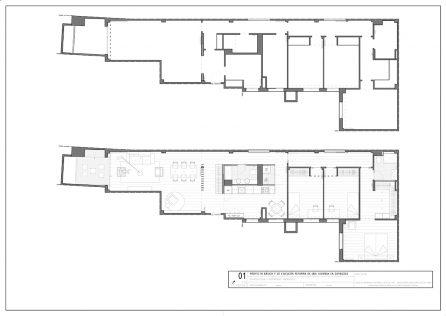 reforma de interiores para restaurante en el centro de Zaragoza por A54insitu