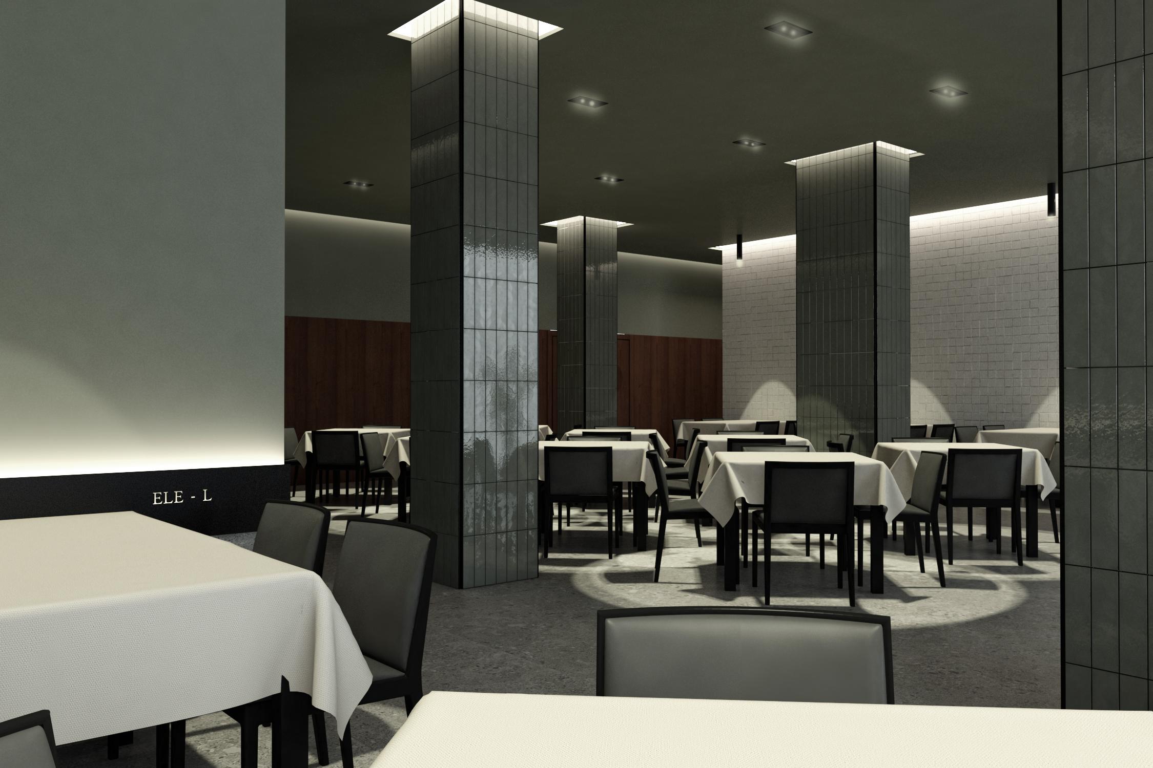 proyecto de reforma interior de un restaurante en Zaragoza realizado por el estudio de arquitectura diseño e interiorismo A54insitu ubicado en Las Armas Zaragoza