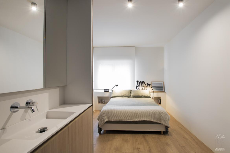 proyecto de reforma integral llaves en mano de interiores de una vivienda en Zaragoza realizado por el estudio de arquitectura y diseño de interiores A54insitu