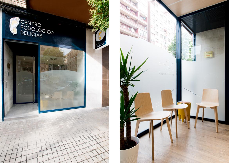 proyecto de reforma integral de interiores de un centro de podoogía modalidad llaves en mano en Zaragoza realizado por el estudio de arquitectura y diseño de interiores A54insitu