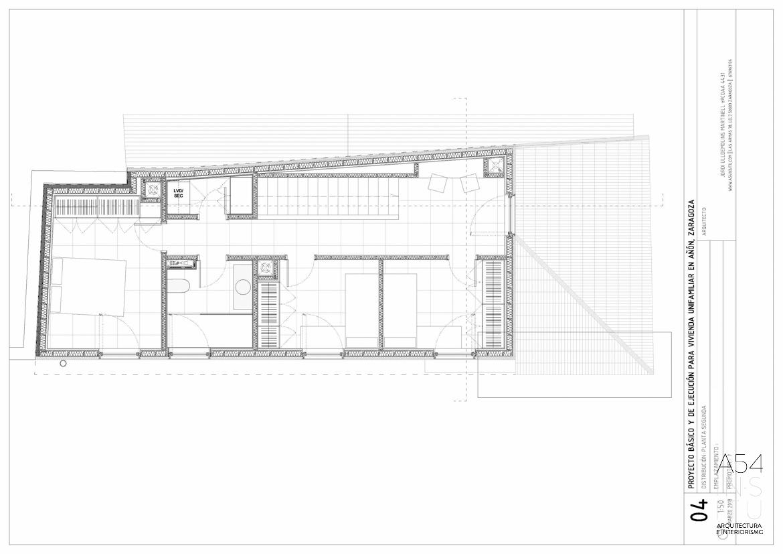 proyecto de arquitectura e interiores de una vivienda en Zaragoza realizado por el estudio de arquitectura y diseño de interiores A54insitu