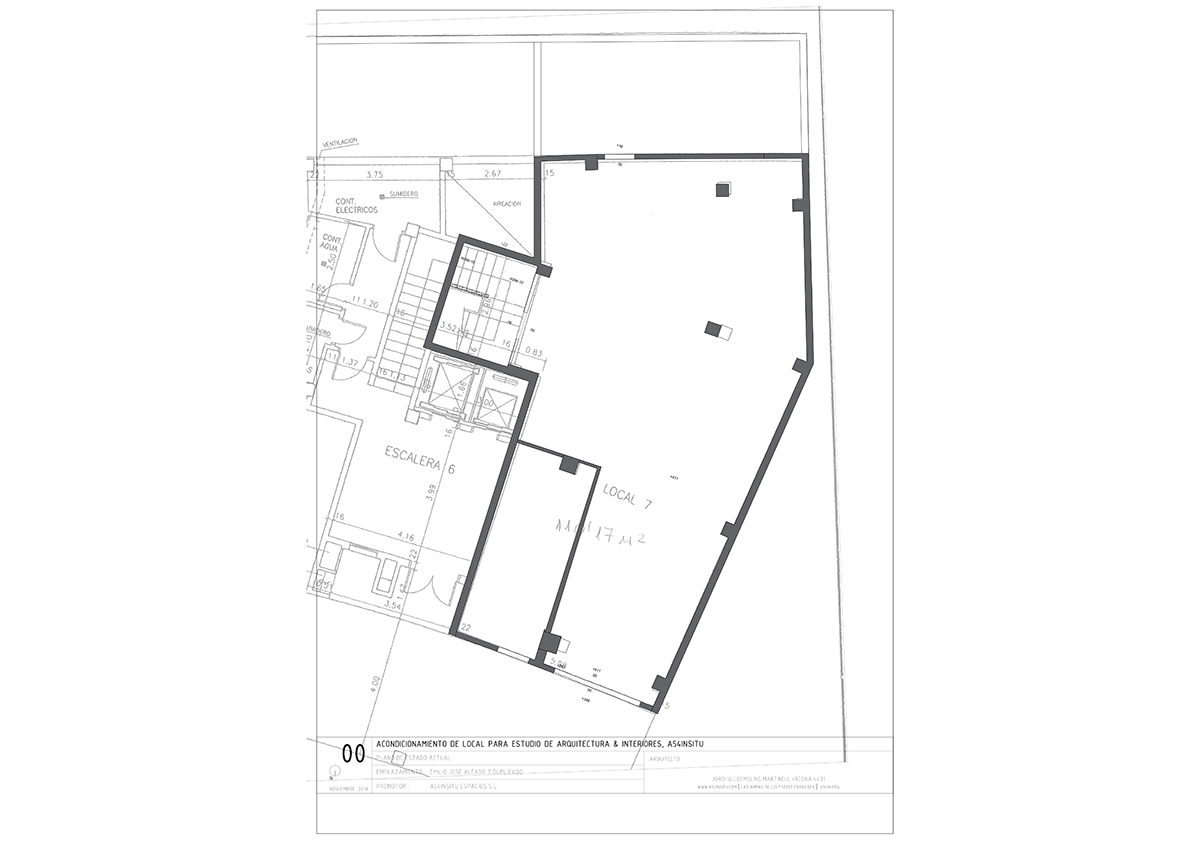 reforma integral del nuevo estudio de arquitectura e interiorismo A54insitu