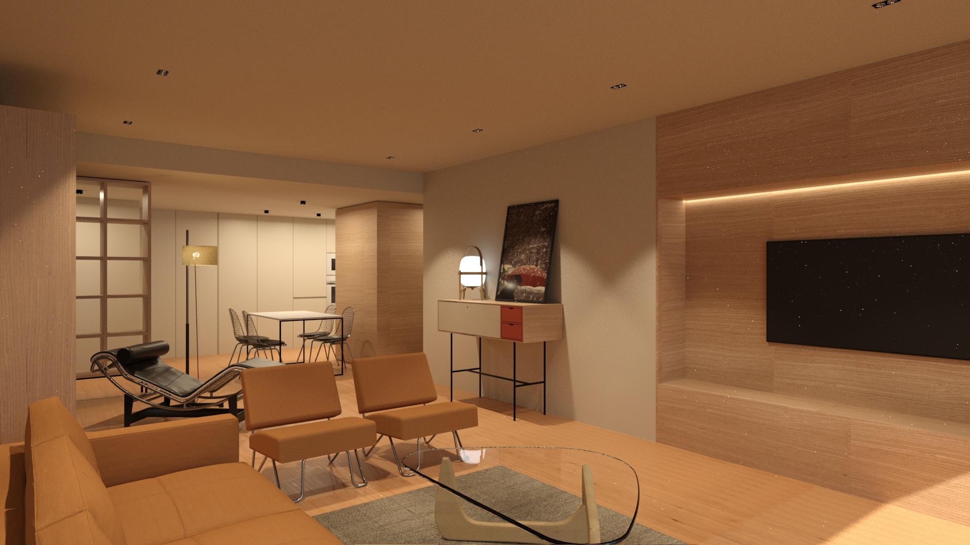 proyecto de arquitectura e interiores y reforma integral llaves en mano de una vivienda en Zaragoza realizado por el estudio de arquitectura y diseño de interiores A54insitu
