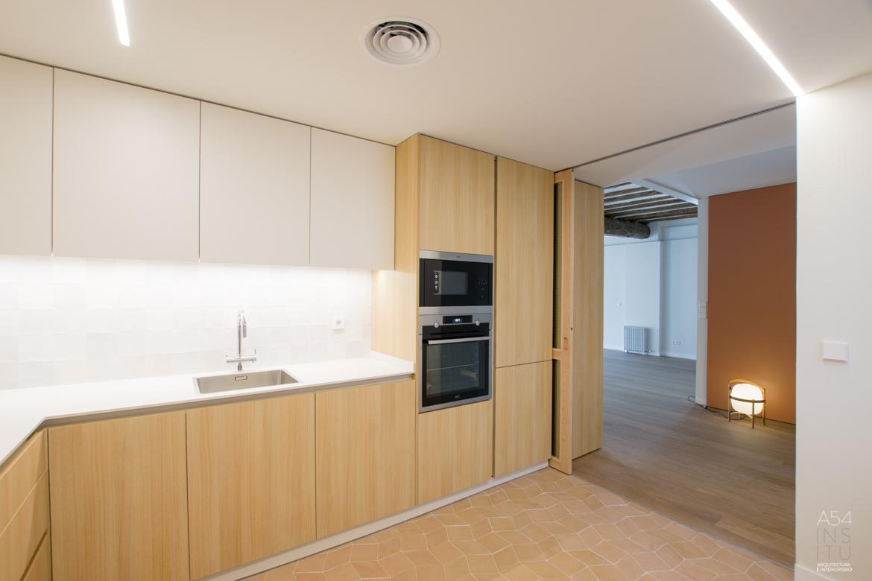 proyecto de arquitectura e interiores y reforma integral de una vivienda en Zaragoza realizado por el estudio de arquitectura y diseño de interiores A54insitu