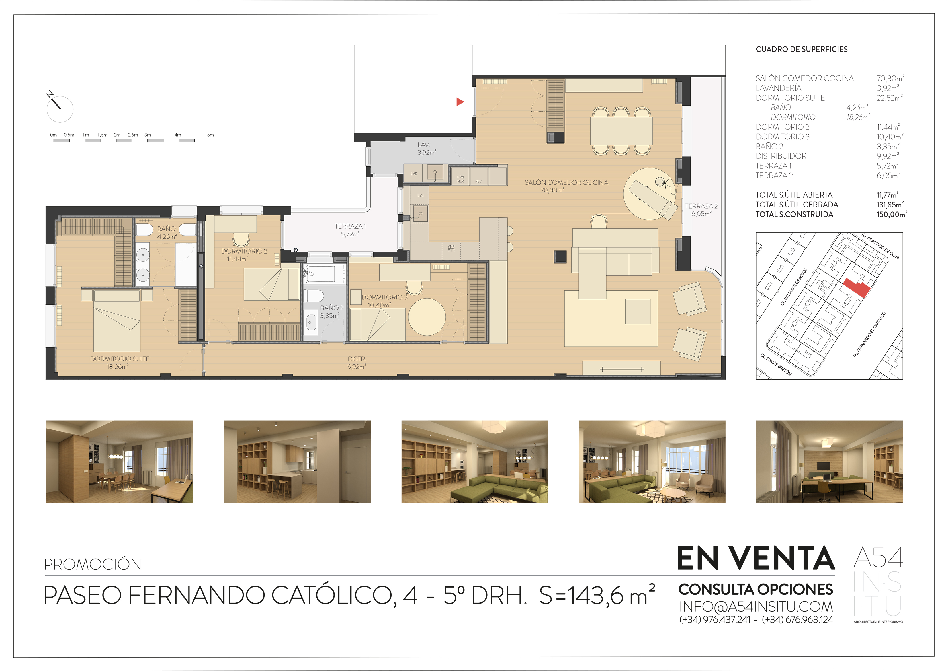 se vende reforma integral de vivienda en Paseo Fernando el Católico llaves en mano A54insitu arquitectura y diseño Zaragoza
